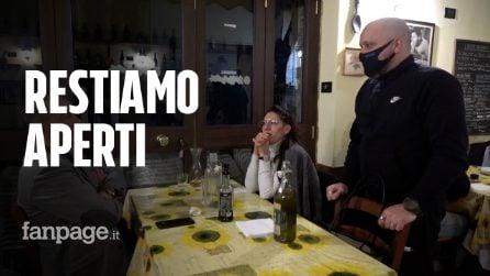 """Roma, continua la protesta di ristoratori aperti a cena: """"Non abbiamo ricevuto nessun controllo"""""""