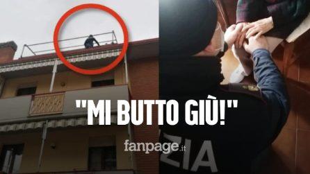 """""""Mi butto giù!"""": anziana vuole lanciarsi dal tetto, salvata all'ultimo minuto da tre agenti"""