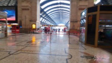 Milano, primo giorno di zona rossa: Stazione Centrale semi-deserta e controlli