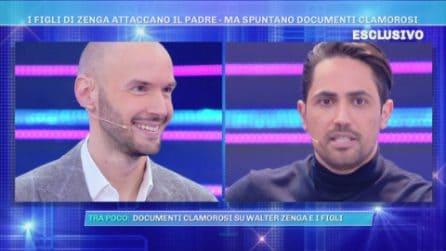 """Nicolò Zenga a Domenica Live contro suo padre Walter Zenga: """"Lui non c'è mai stato"""""""