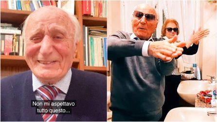 """A 92 anni è star di TikTok e nonno per migliaia di """"nipoti virtuali"""": il grande cuore di Severino"""