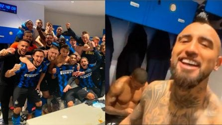 Inter-Juventus, Vidal scatenato negli spogliatoi