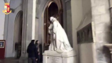 """Napoli, ritrovato il """"Salvator Mundi"""" rubato dalla Basilica di San Domenico Maggiore"""