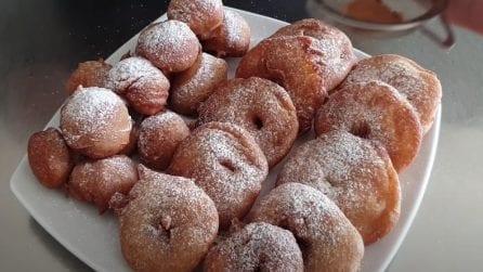 Castagnole e frittelle di mele: la ricetta semplice e piena di gusto