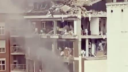 Madrid, esplosione distrugge un palazzo in centro
