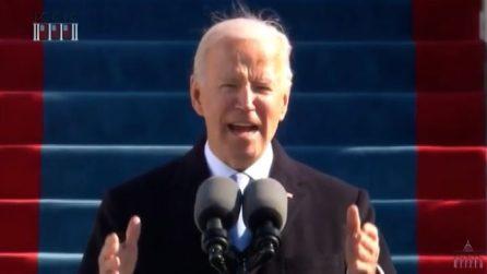 """Biden, il primo discorso da presidente: """"La democrazia ha vinto, ora torniamo uniti"""""""