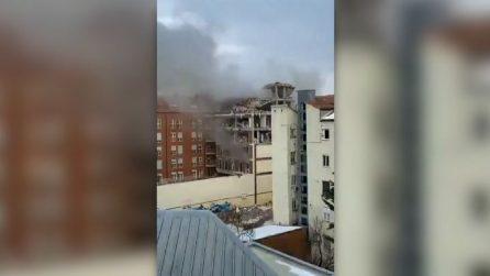 Madrid scossa da un'esplosione, distrutto un palazzo