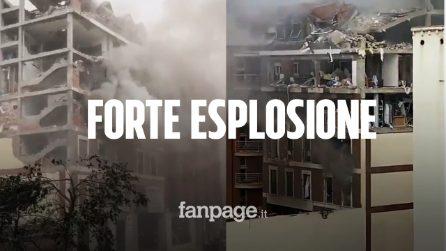 Madrid, forte esplosione in centro: palazzo sventrato, morti e diversi feriti