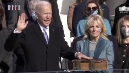 USA, il giuramento di Joe Biden da nuovo presidente
