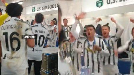 """Juventus, negli spogliatoi si canta """"Campeones"""""""