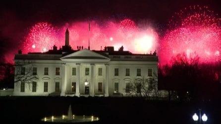 Inauguration day, i fuochi d'artificio sopra la Casa bianca