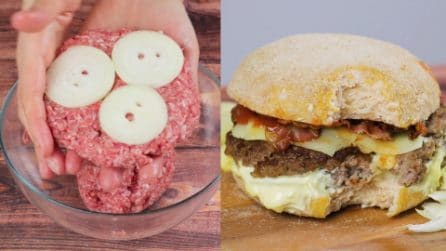 Giant burger, chicken buns and onion beef: you can't miss this!
