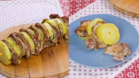 Big meat skewer: a fun idea for a delicious dinner!