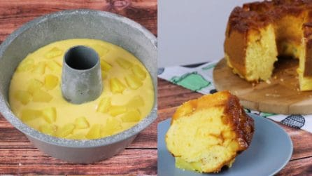 Pineapple donut cake: a soft and yummy dessert!