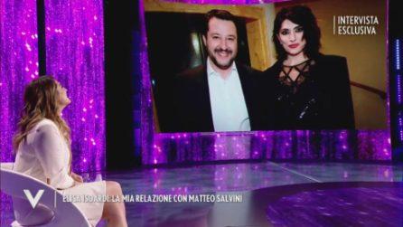 Elisa Isoardi racconta a Verissimo la sua relazione passata con Matteo Salvini