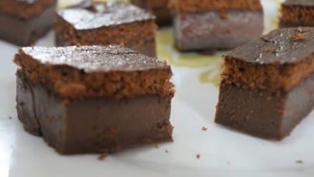 Quadrotti magici al cioccolato: la ricetta del dessert che si scioglie in bocca
