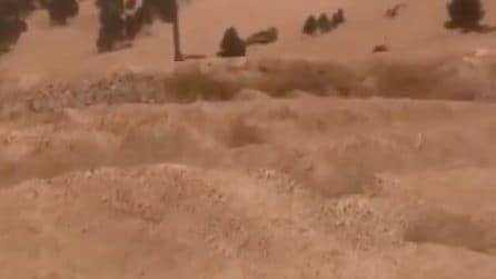 Tempesta dal Sahara arriva sulle montagne in Europa: la neve si copre di sabbia