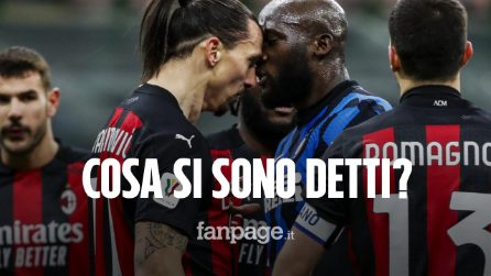 Scontro Lukaku - Ibrahimovic durante Inter - Milan di Coppa Italia: ecco cosa si sono detti