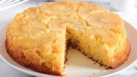 Torta rovesciata ananas e cocco: la ricetta del dessert soffice e goloso