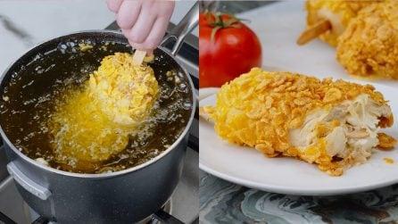 Pollo fritto ai cornflakes: la ricetta classica americana per una cena davvero deliziosa!
