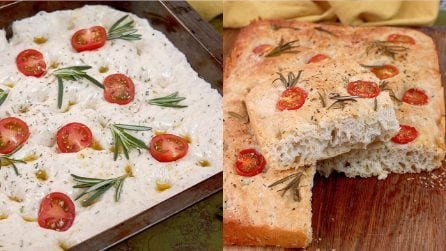 Olive oil focaccia: the secret to make it fluffy and high!