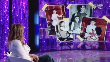 """L'infanzia di Sabrina Salerno: """"Non sono cresciuta con i miri genitori"""""""