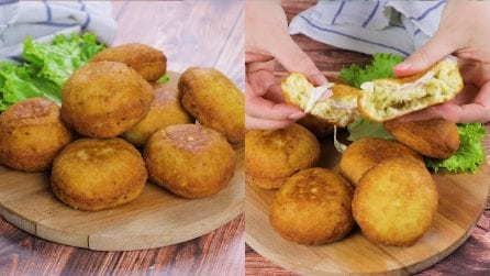 Potato bombs: savory and cheesy, really easy to prepare!