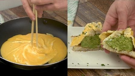 Pane tostato con frittata e avocado: da provare assolutamente!