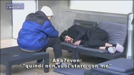 Amici20, Martina Miliddi lascia di nuovo Aka7even e lui si dispera