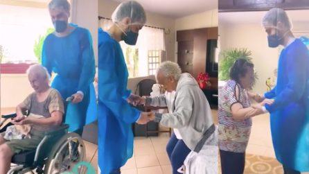 """""""La danza è fondamentale per il benessere"""",infermieri ballano con i residenti del centro geriatrico"""