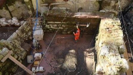Da scavi M4 Milano emergono mura medioevali: al via trasferimento