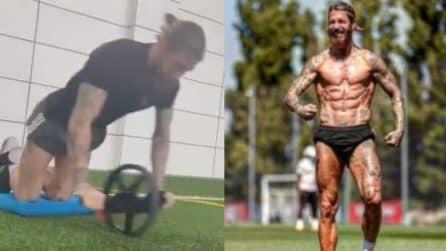 I super allenamenti di Sergio Ramos per continuare ad avere un fisico scolpito