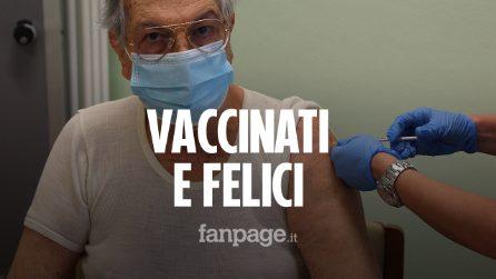 """Milano, la felicità dei primi anziani vaccinati: """"Il Covid è stato più brutto della guerra"""""""