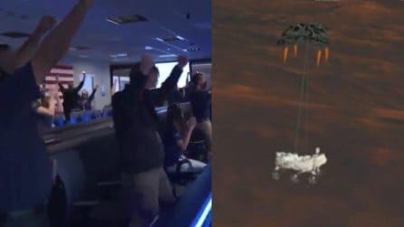 Perseverance è atterrato su Marte dopo un viaggio di 7 mesi: l'esultanza alla NASA