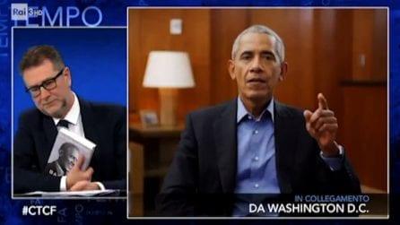 Barack Obama da Fazio: la democrazia non è un dono del cielo