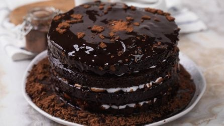 Chocolate pull me up cake: the result is beautiful!