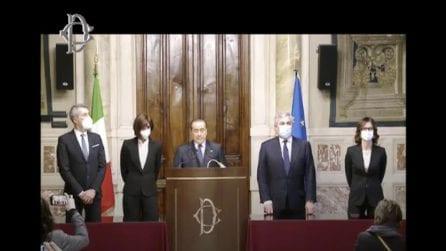 Il discorso di Silvio Berlusconi al termine del secondo giro di consultazioni con Mario Draghi