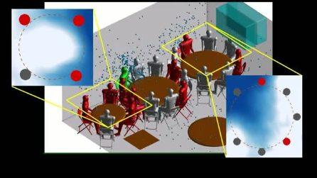 Simulazione al computer mostra come i condizionatori d'aria diffondono il coronavirus nei locali