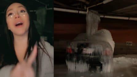 Brutta disavventura per una ragazza: trova la sua auto ridotta così