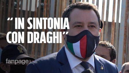 """Processo caso Gregoretti, Salvini: """"Draghi in sintonia con noi sul tema dell'immigrazione"""""""