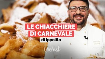 La video ricetta delle chiacchiere di Carnevale del pasticciere Tommaso Ippolito