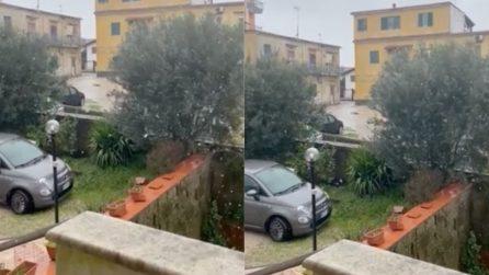 Allerta meteo e neve in Campania: scendono i primi fiocchi