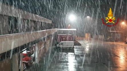 Maltempo in Campania, abbondanti nevicate in provincia di Avellino