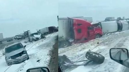 Gelo e neve in Texas: raddoppiano gli incidenti d'auto