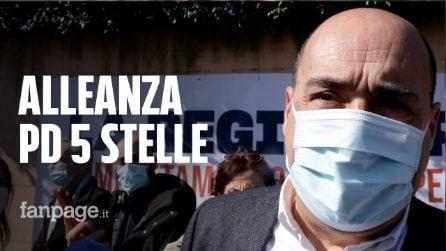 """Zingaretti: """"Alleanza Pd-5 Stelle non avrà ricadute su voto Roma, ogni comune decide autonomamente"""""""