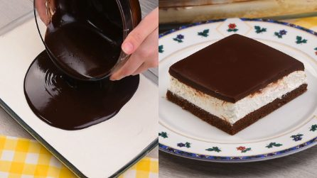 Torta fredda panna e cioccolato: golosa e irresistibile!