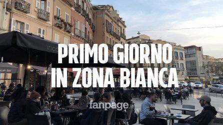 """Sardegna, primo giorno in zona bianca: per le strade a Cagliari """"sembra Natale"""""""