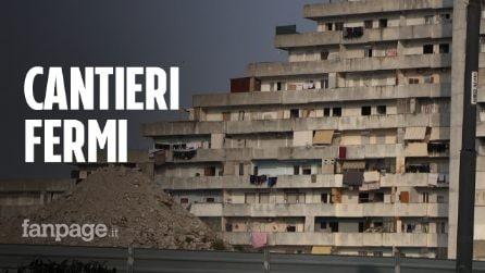 """Vele di Scampia, un anno dopo l'abbattimento i cantieri sono fermi: """"Il Covid ha bloccato i lavori"""""""