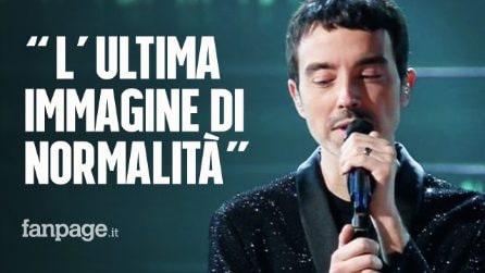 """Sanremo 2021, Diodato canta """"Fai rumore"""": """"L'ultima immagine di normalità prima della pandemia"""""""