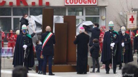 Codogno, inaugurato memoriale per ricordare le vittime del Covid-19